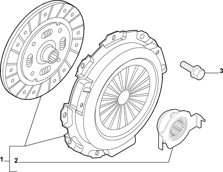 Kit Frizione ORIGINALE 3 PEZZI Fiat Grande Punto 1.3